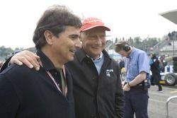 Nelson Piquet and Niki Lauda