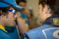 Fernando Alonso et Giancarlo Fisichella
