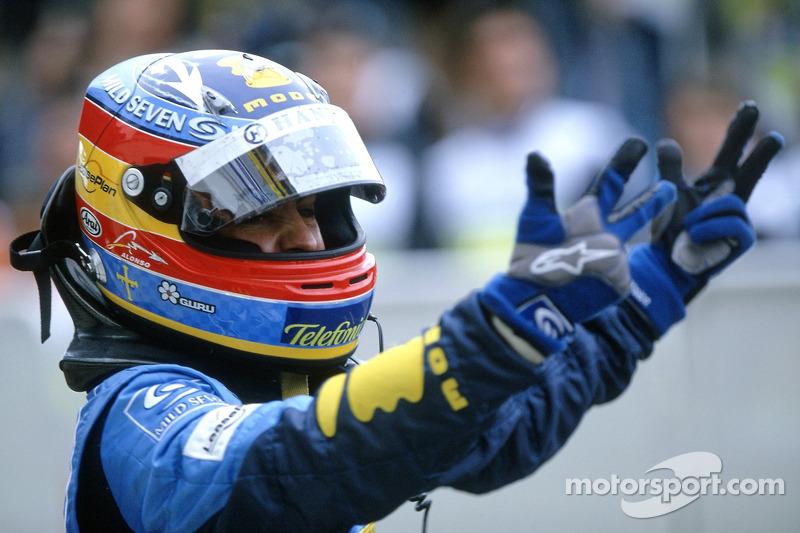 Fernando Alonso comemora