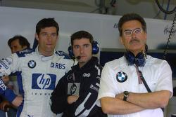 Mark Webber, Xevi Pojolar et Dr Mario Theissen