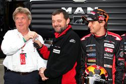 Minardi media event: Paul Stoddart and Christijan Albers