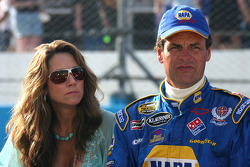 Michael Waltrip with wife Buffy