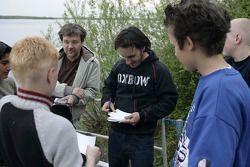 Laurent Aiello signs autographs