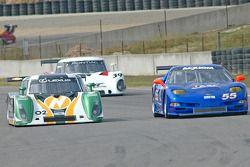 #02 New Century Mtg/ Chip Ganassi w/Sabates Lexus Riley: Cort Wagner, Stefan Johansson, #55 ASC Motorsports Corvette: Zach Arnold, Jason Workman