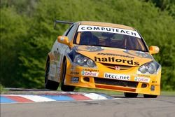 #8 Team Halfords Honda Integra of Dan Eaves - winner of all 3 races