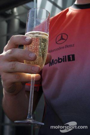 Victory celebrations, McLaren