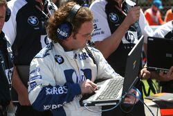 Williams-BMW takım elemanları gridde