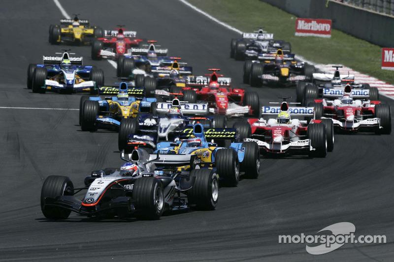 2005: Гран При Испании, McLaren MP4-20. Стартовал с поул-позиции