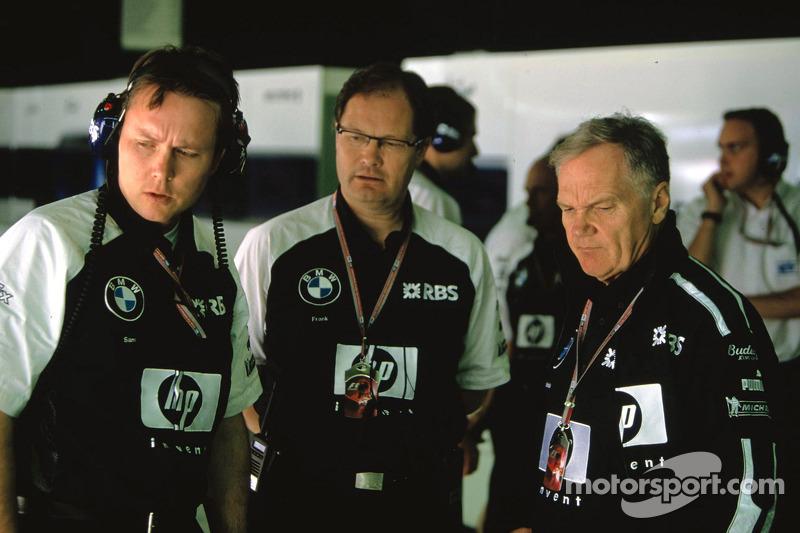 Sam Michael, Franck Dernie and Patrick Head