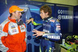 Valentino Rossi, Yamaha, mit Stéphane Peterhansel