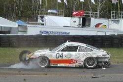 #04 Sigalsport Porsche GT3 Cup: Gene Sigal, Matthew Alhadeff crashes