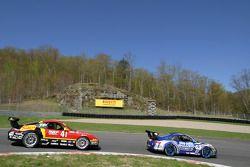 #63 Auto Gallery/ TRG Porsche GT3 Cup: Dave Master, Marc Bullock, Andy Brumbaugh, #41 Team Sahlen Porsche GT3 Cup: Joe Nonnamaker, Eric Lux