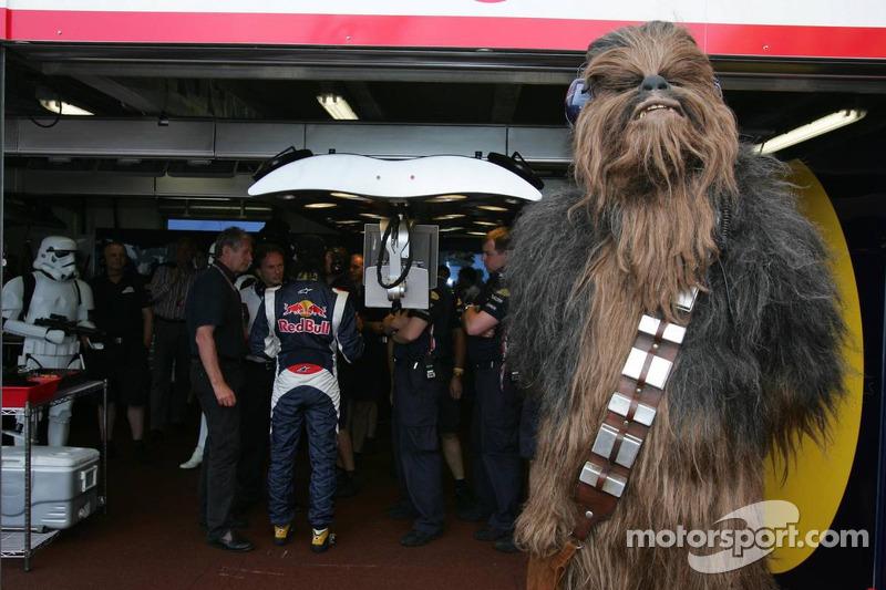 Chewbacca verfolgt das Qualifying
