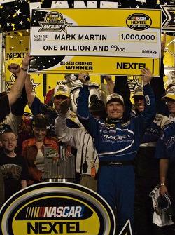 Mark Martin celebrates the All Star Challenge win