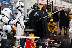 Pitstopoefening bij Red Bull Racing
