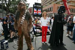 Chewbacca en Darth Vader op de grid