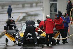 Pitstop for #14 Autometrics Motorsports Porsche GT3 Cup: Cory Friedman, Leh Keen