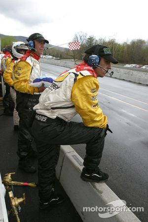 Synergy Racing crew members ready for a pitstop