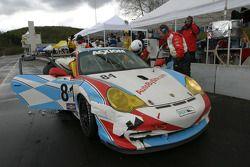 Pitstop for #81 Synergy Racing Porsche GT3 Cup: Mae Van Wijk, Price Cobb