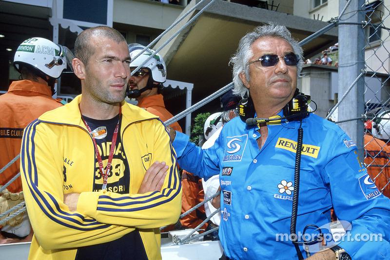 Flavio Briatore ve football star Zinedine Zidane