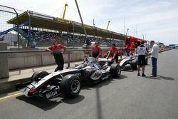 McLaren in technical inspection line