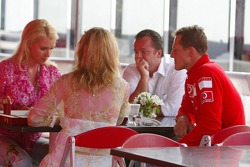 Corina and Michael Schumacher with friends