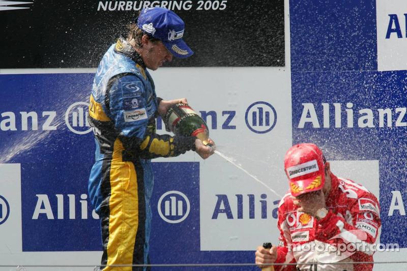 15- Fernando Alonso, 1º en el GP de Europa 2005 con Renault