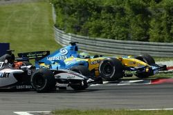Giancarlo Fisichella and Christijan Albers