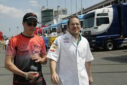 Kimi Raikkonen and Jacques Villeneuve