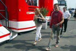 Michael Schumacher with wife Corina