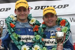 Ben Collins and Neil Cunningham on the podium