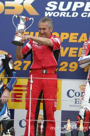 Davide Tardozzi on the podium