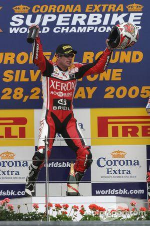 Régis Laconi on the podium
