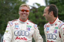 JJ Lehto shares a laugh with Marco Werner