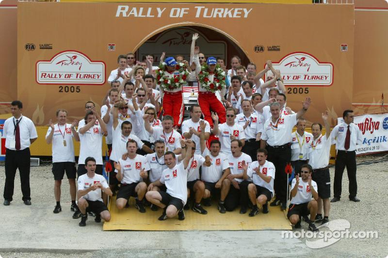 Чествование победители Ралли Турция