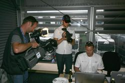 Martin Tomczyk acts as a cameraman for Premiere TV