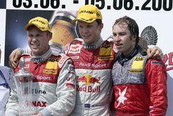 Podium: race winner Mattias Ekström with Tom Kristensen and Heinz-Harald Frentzen