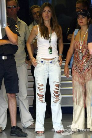 Simone Abdelnour, girlfriend of David Coulthard