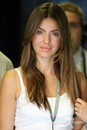 Simone Abdelnour, novia de David Coulthard