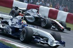 Mark Webber y Juan Pablo Montoya