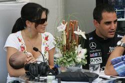 Connie Montoya, Juan Pablo Montoya con su bebé Sebastian