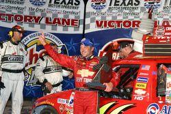 Victory lane: race winner Jack Sprague celebrates