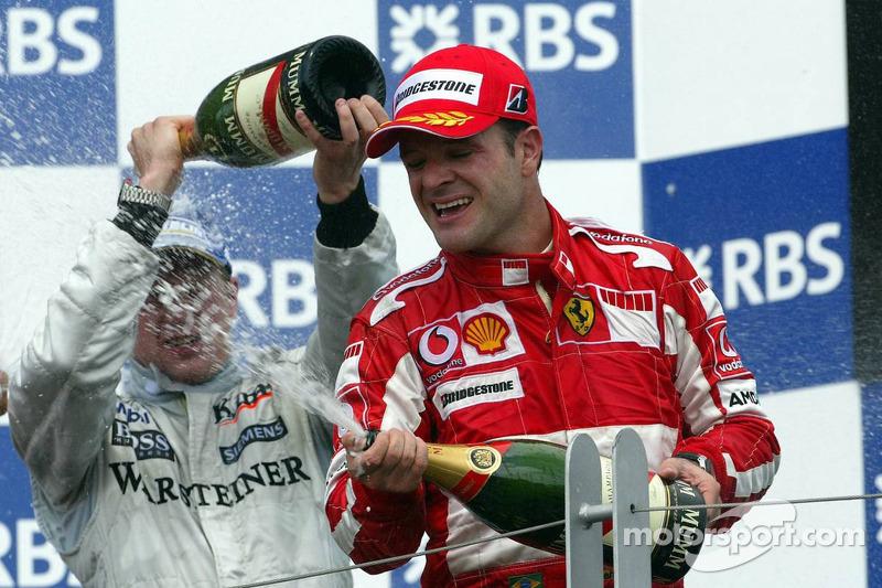 Podyum: Kimi Raikkonen ve Rubens Barrichello