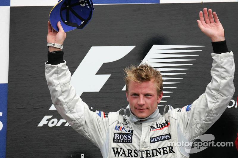 Kimi Raikkonen subiu no topo do pódio em 2005 no GP canadense