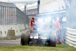Nick Heidfeld out of the race