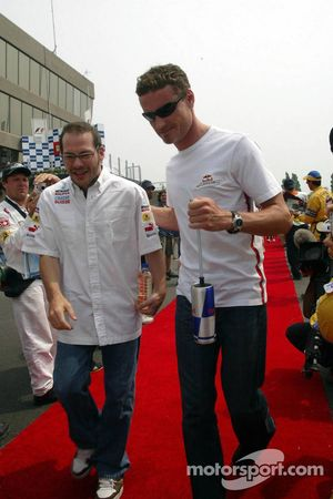 Jacques Villeneuve and David Coulthard