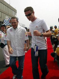 Jacques Villeneuve and David Coulthard