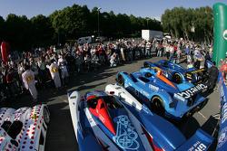 Cars wait for scrutineering