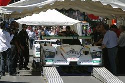 Champion Racing Audi R8 at scrutineering
