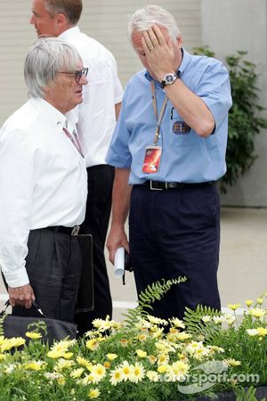 Bernie Ecclestone et Charlie Whiting